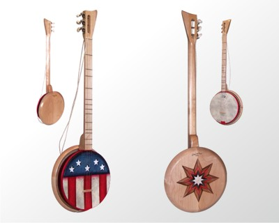 [Photo of LicketySplit Banjo Liberty Model and Star]